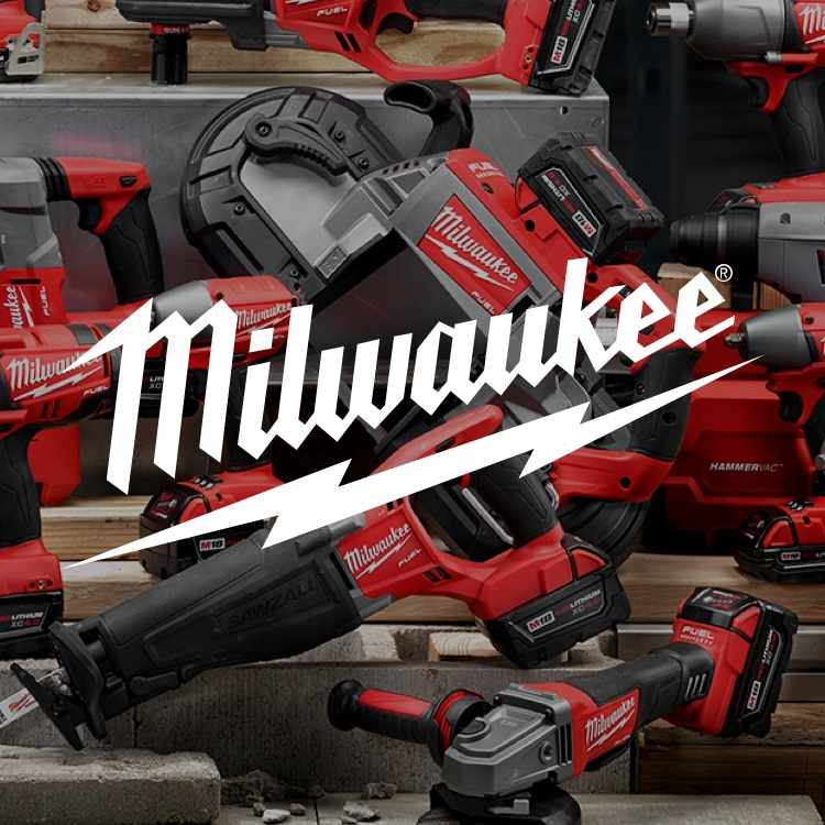 Shop Milwaukee at Hobbs Lumber - Milwaukee power tools with logo